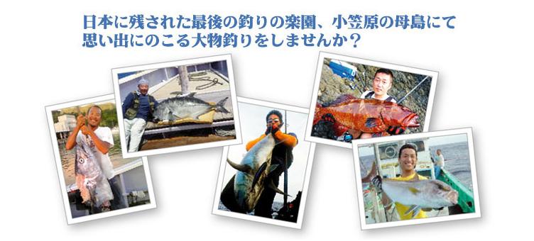 日本に残された最後の釣りの楽園、小笠原の母島にて 思い出にのこる大物釣りをしませんか